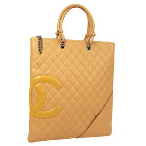 Chanel Quilted Cambon Line Cc Hand Tote #4430C80B